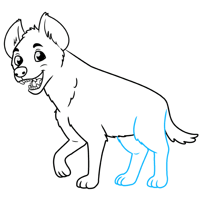 How to Draw a Hyena Step 08