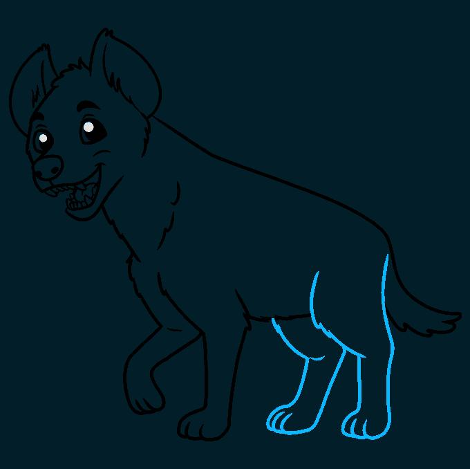 How to Draw Hyena: Step 8