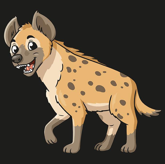 How to Draw Hyena: Step 10