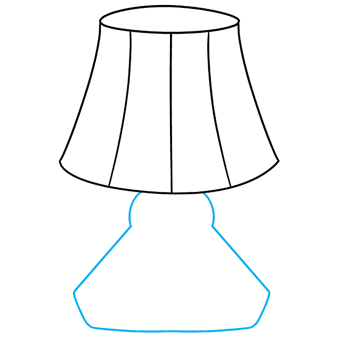 How to Draw Lamp: Step 6