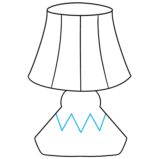 How to Draw Lamp: Step 7