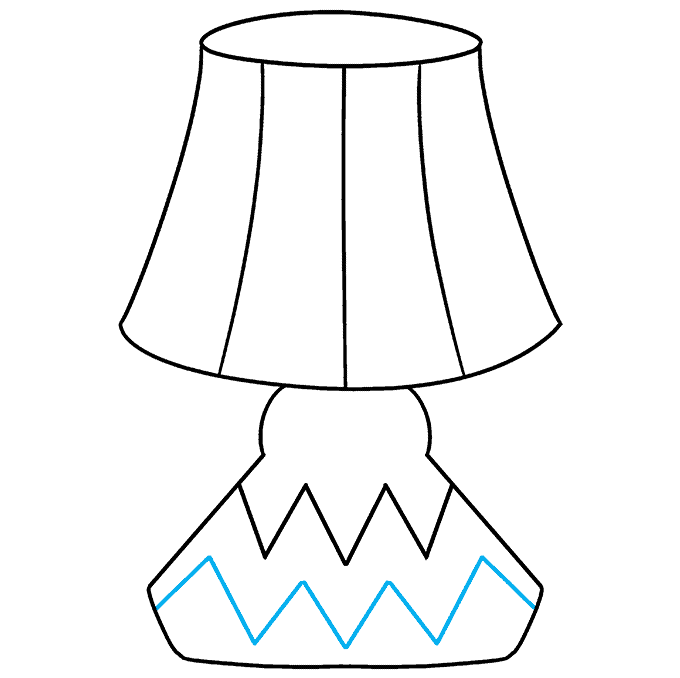 How to Draw Lamp: Step 8