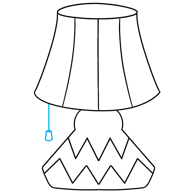 How to Draw Lamp: Step 9