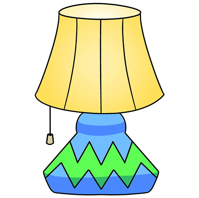 How to Draw Lamp: Step 10