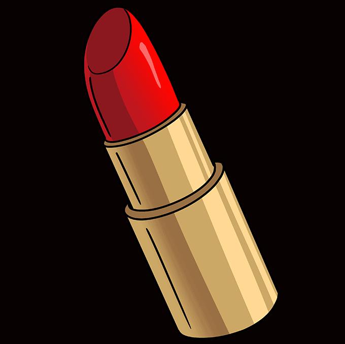 How to Draw Lipstick: Step 10