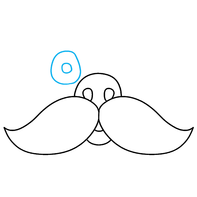 How to Draw Mustache: Step 6