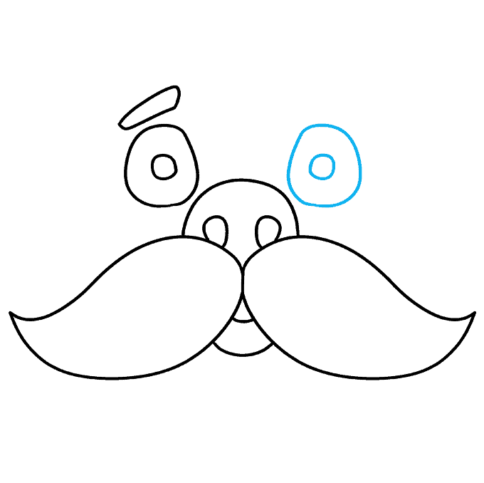 How to Draw Mustache: Step 8