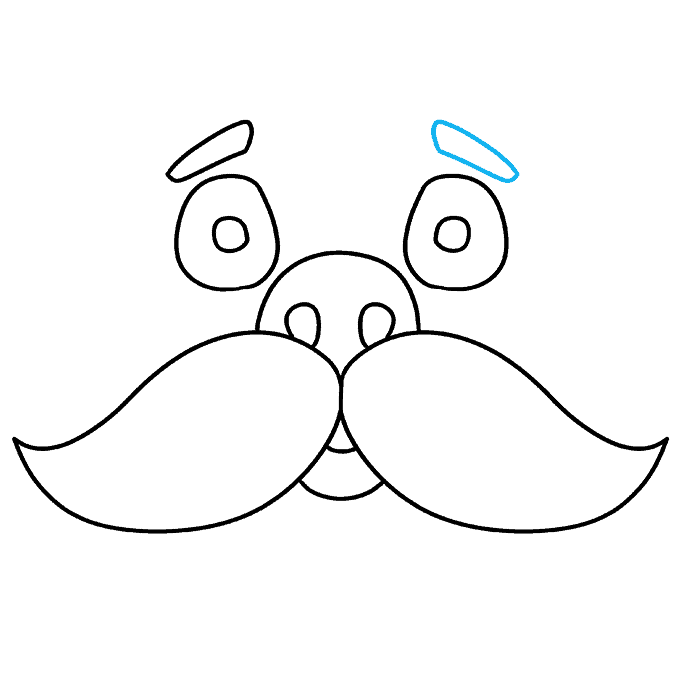 How to Draw Mustache: Step 9