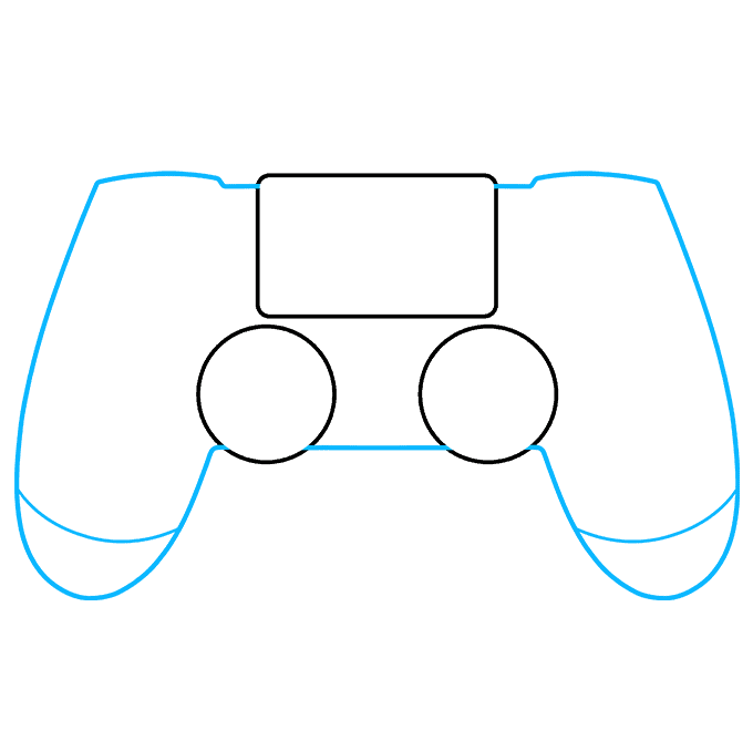 How to Draw PS4 Controller: Step 3