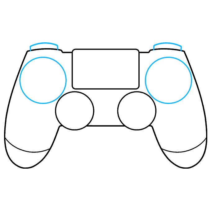 How to Draw PS4 Controller: Step 4