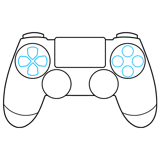 How to Draw PS4 Controller: Step 5