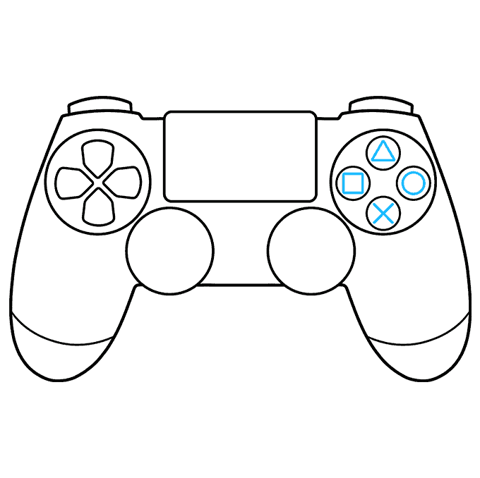 How to Draw PS4 Controller: Step 6