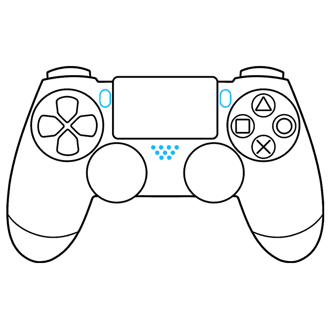 How to Draw PS4 Controller: Step 7