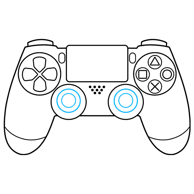 How to Draw PS4 Controller: Step 8