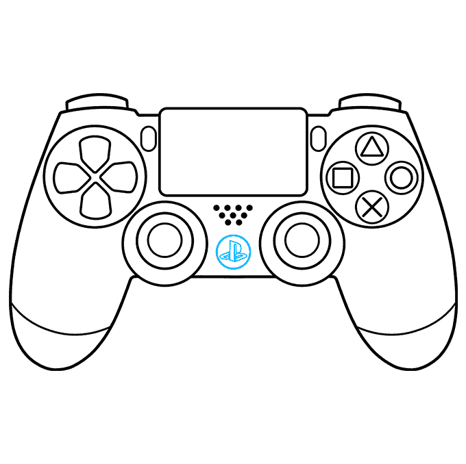 How to Draw PS4 Controller: Step 9