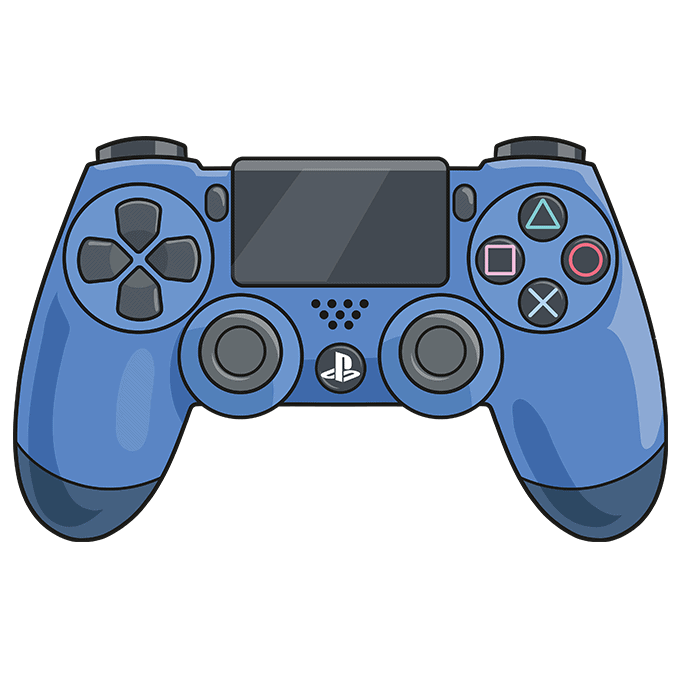 How to Draw PS4 Controller: Step 10