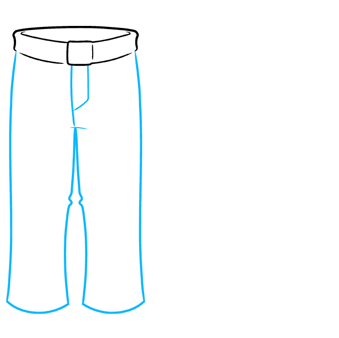 How to Draw Pants Step 03