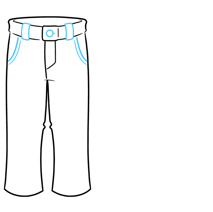 How to Draw Pants: Step 4