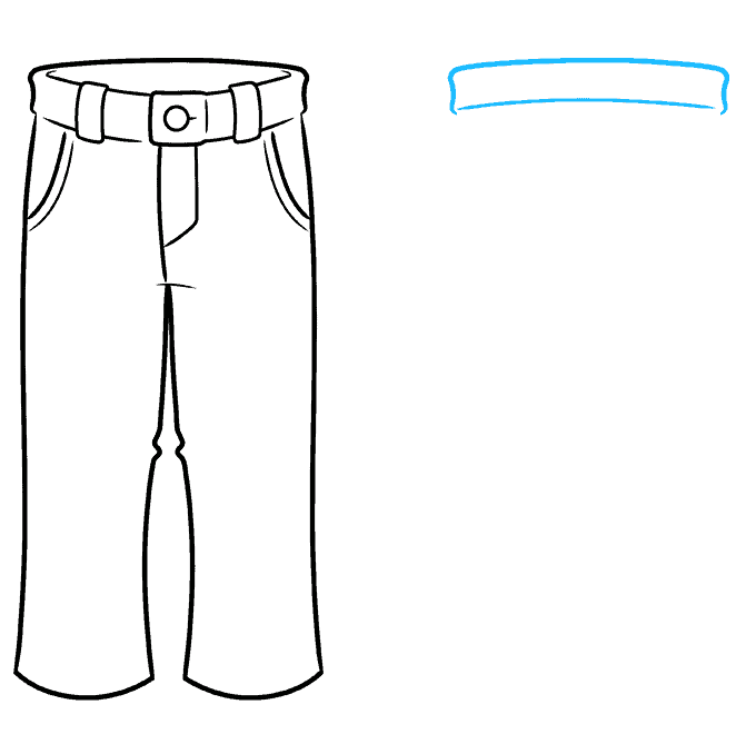 How to Draw Pants Step 05