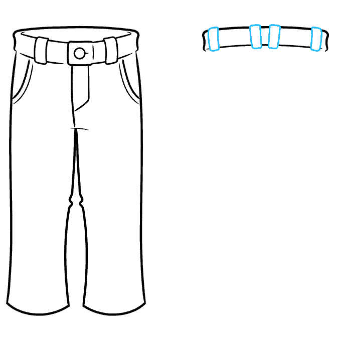 How to Draw Pants Step 06