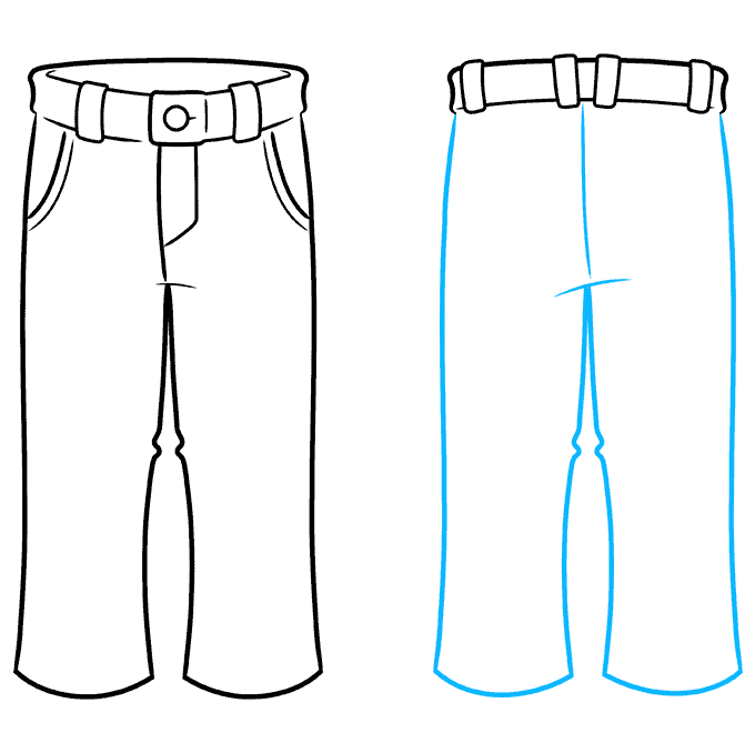 How to Draw Pants: Step 7
