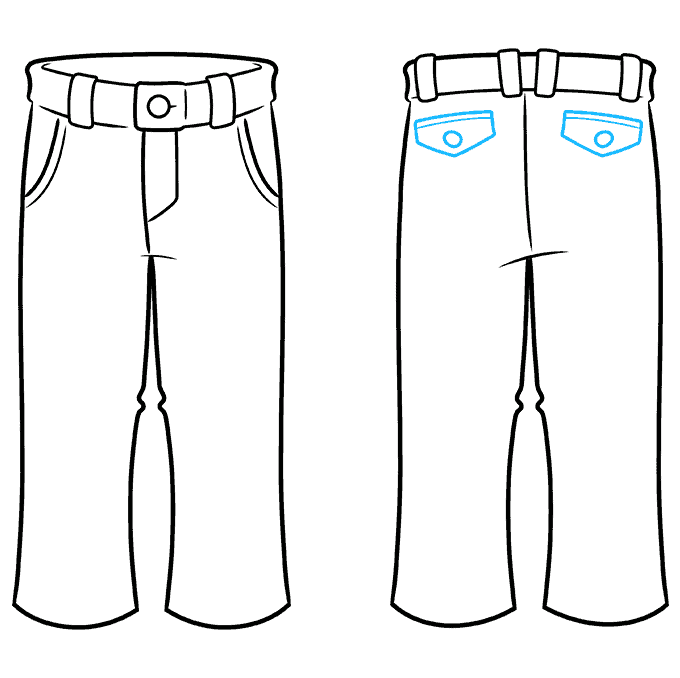 How to Draw Pants Step 08