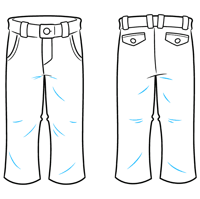 How to Draw Pants Step 09