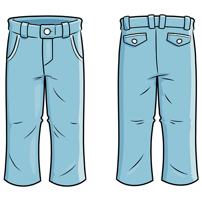 How to Draw Pants: Step 10
