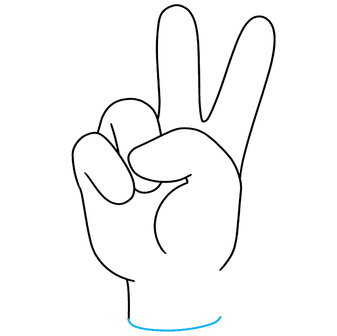 How to Draw Peace Sign: Step 8