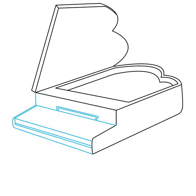 How to Draw Piano: Step 4