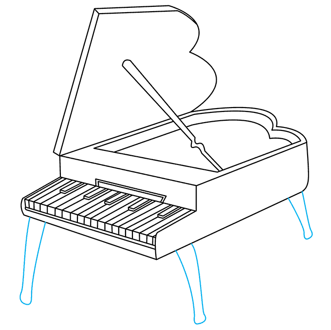 How to Draw Piano: Step 8
