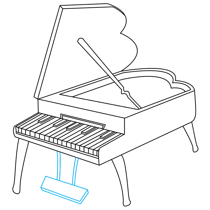 How to Draw Piano: Step 9