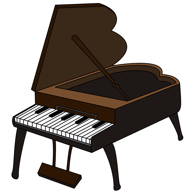 How to Draw Piano: Step 10