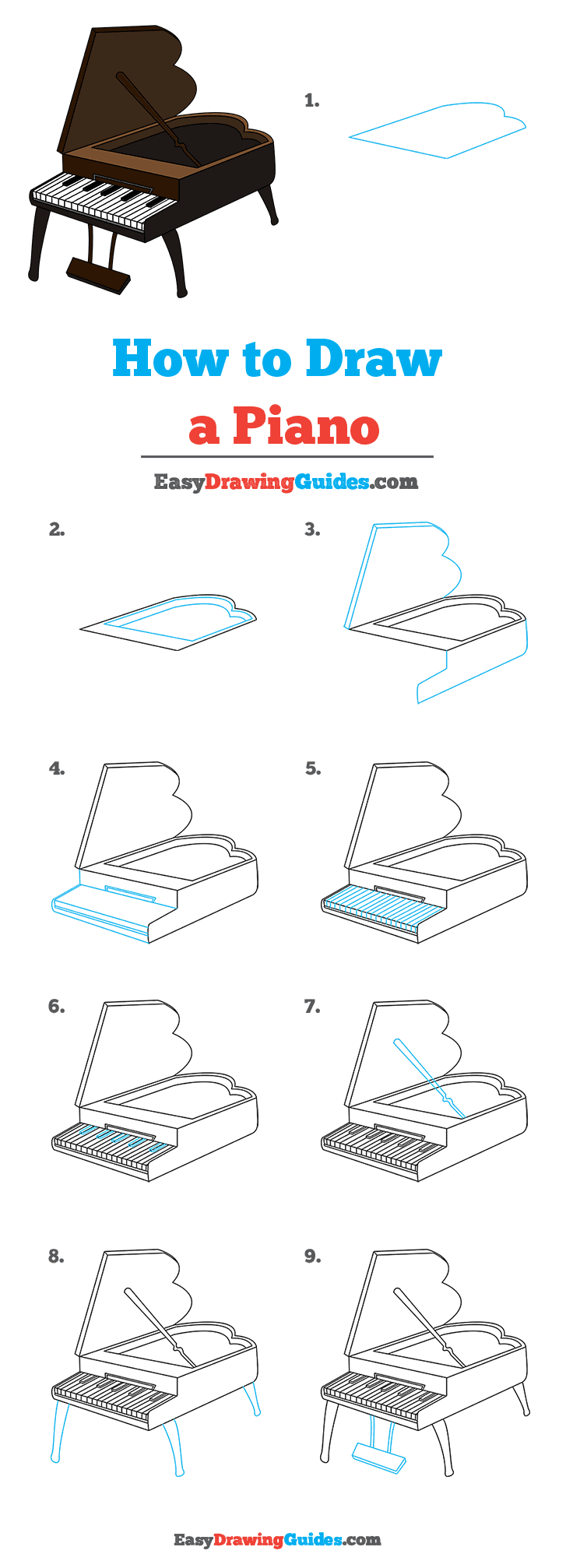 How to Draw Piano