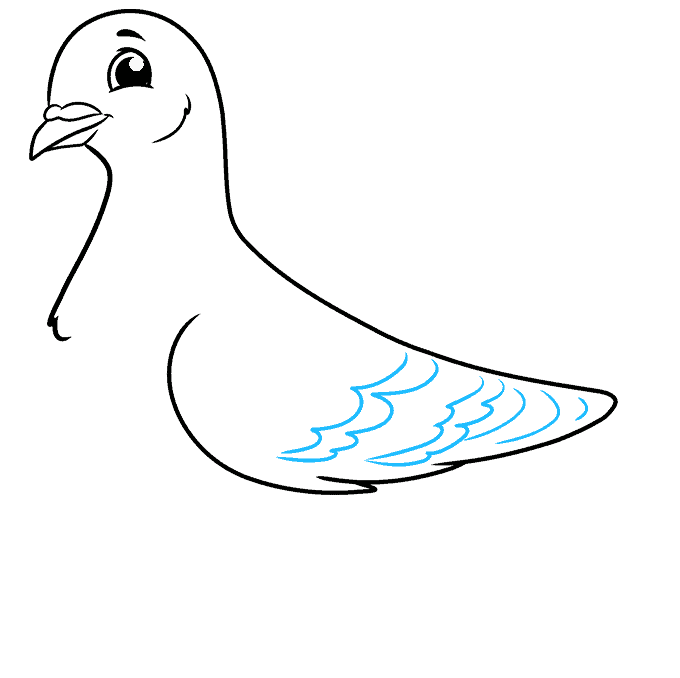 How to Draw Pigeon: Step 5
