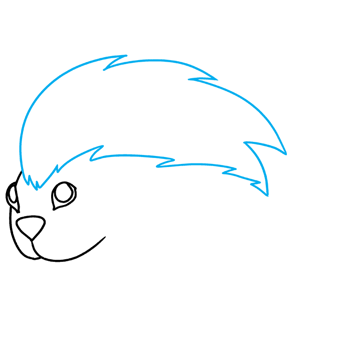 How to Draw Porcupine: Step 4