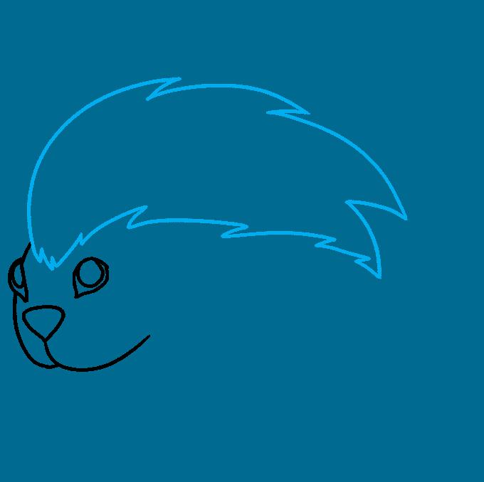 How to Draw a Porcupine Step 04