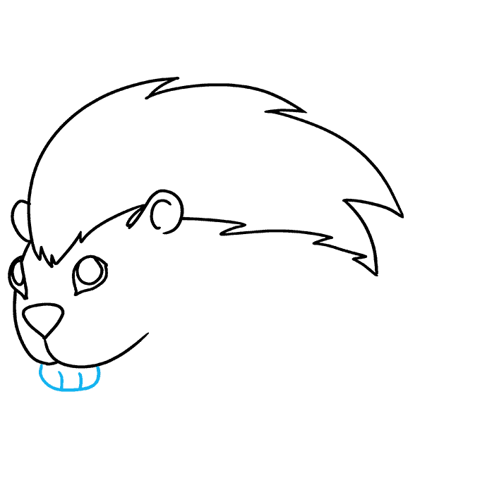 How to Draw a Porcupine Step 06