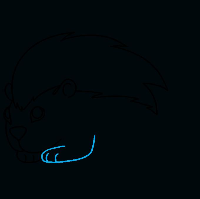 Cómo dibujar puercoespín: paso 7