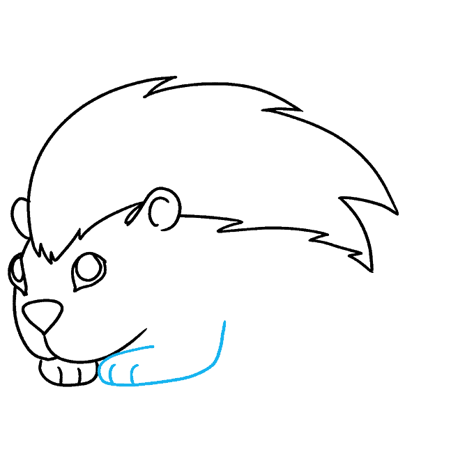 How to Draw a Porcupine Step 07