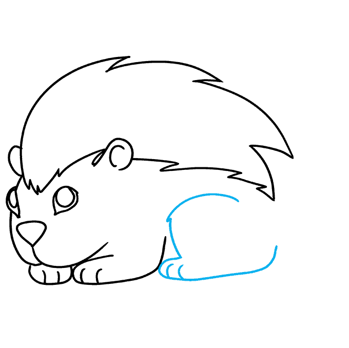 Cómo dibujar puercoespín: Paso 8