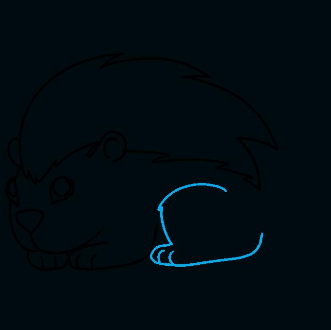 How to Draw a Porcupine Step 08