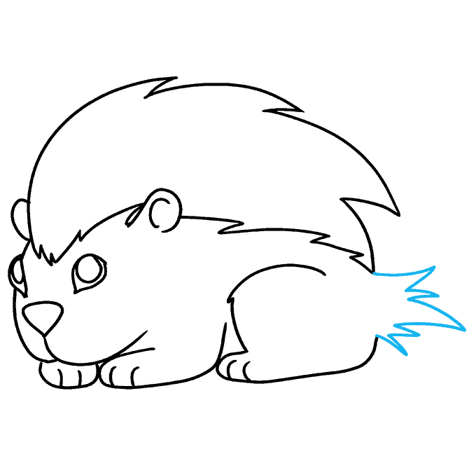 How to Draw Porcupine: Step 9
