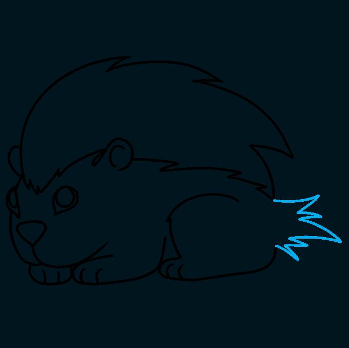 How to Draw a Porcupine Step 09