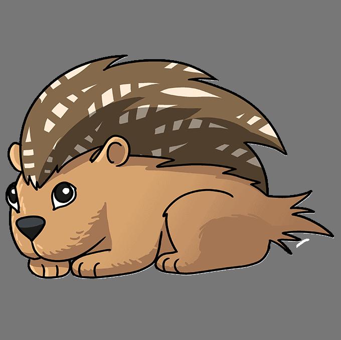 How to Draw a Porcupine Step 10