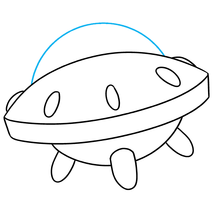 How to Draw a Spaceship Step 08