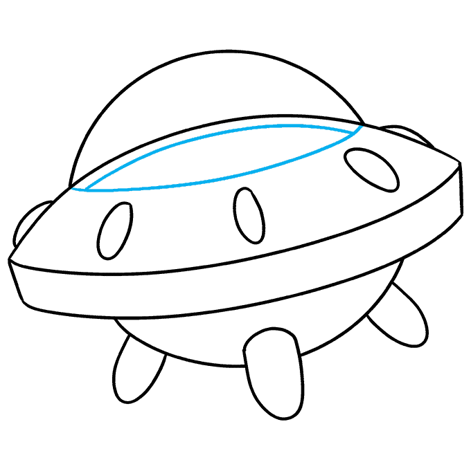 How to Draw a Spaceship Step 09