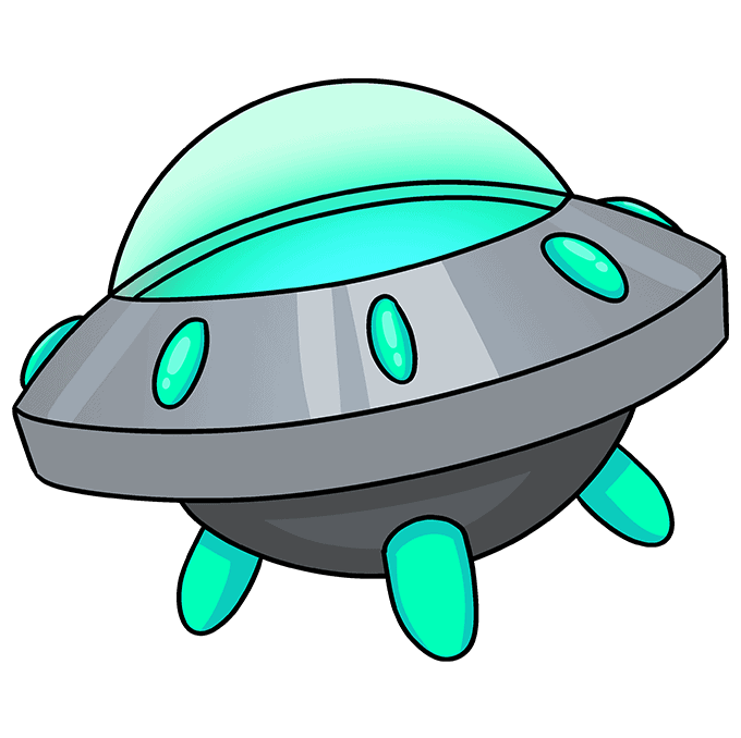 How to Draw a Spaceship Step 10