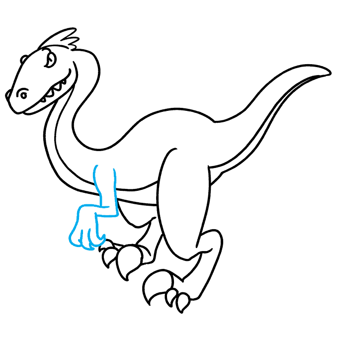 How to Draw Velociraptor: Step 8