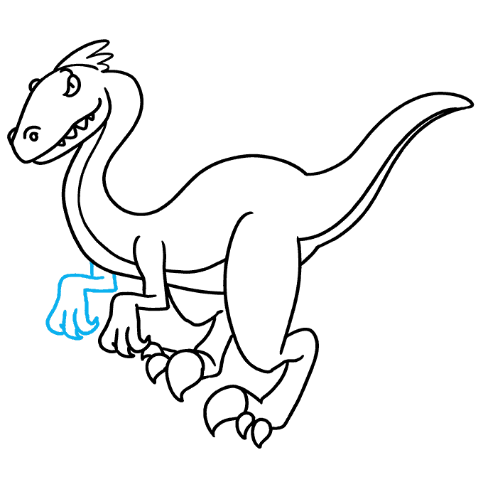 How to Draw Velociraptor: Step 9